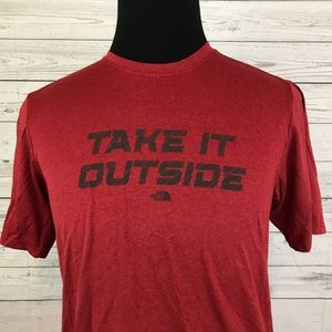 27455a2ca NEW The North Face Take It Outside T-Shirt Red S NWT